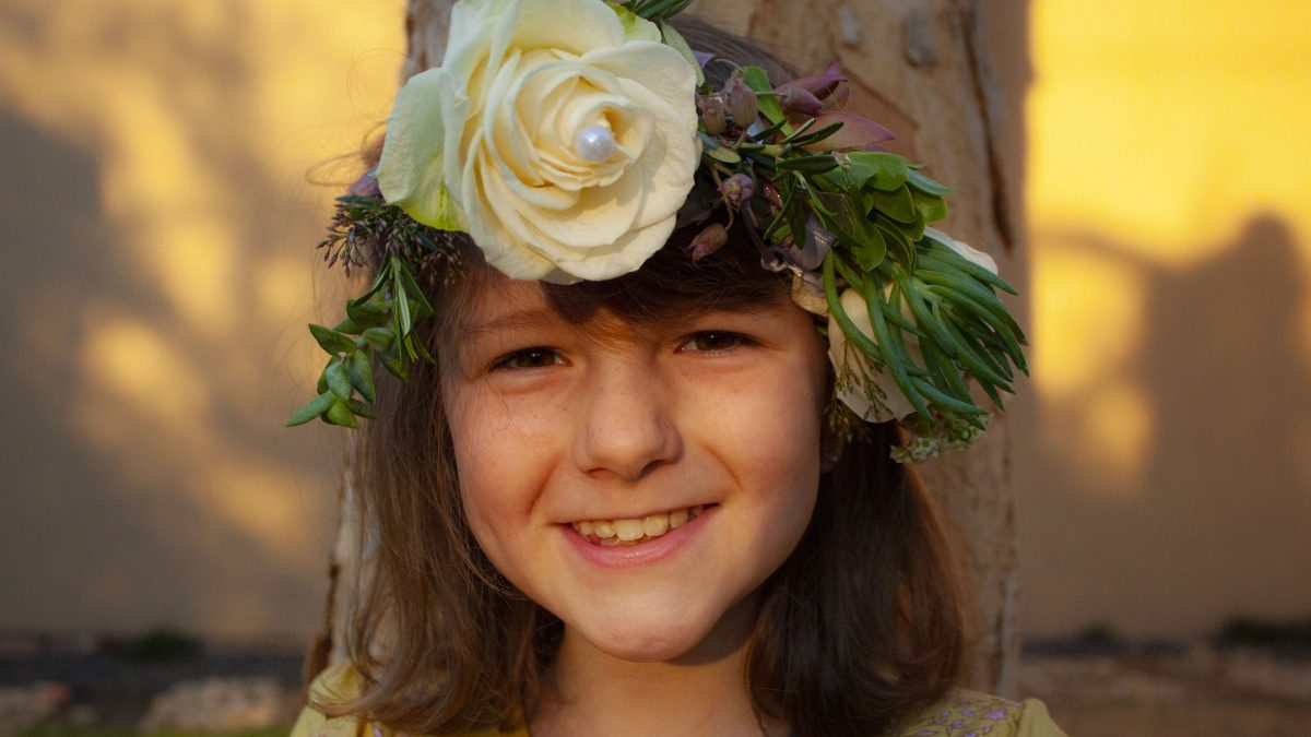 DIY Succulent and Rose Flower Crowns for Kids