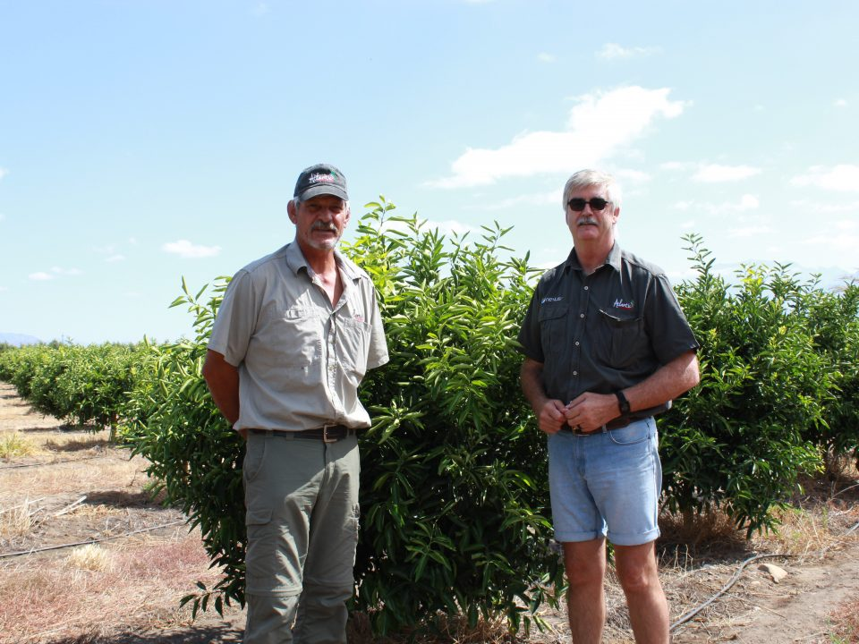 Johann Möller (left) from Atlantic Fertilisers and Andries du Toit of the Horologe Krants farm in the Rawsonville area.